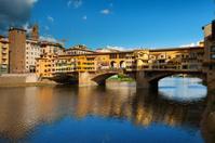 Ponte Vecchio over Arno River, Florence, Italy, Europe