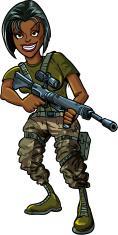 Cartoon Soldier With Gun