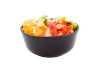 Three colour health, kiwi, tangerine and strawberries