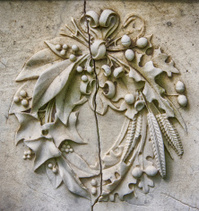 stone wreath