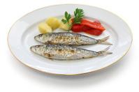 sardinhas assadas, charcoal grilled sardines