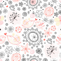 Abstract retro floral pattern