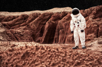 Astronaut On Mars or the Moon