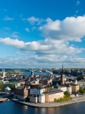 Aerial View of Riddarholmen in Stockholm in Sweden