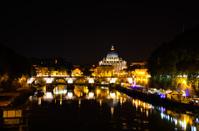 Tiber in Rome by night