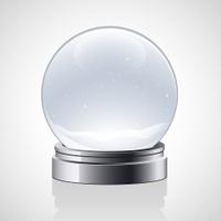 Glass snow globe