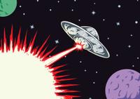 Blasting UFO