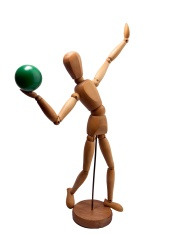 Artist wooden mannequin -Green Ball-01