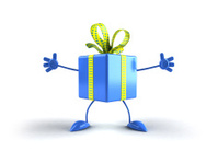 Gift with hands and feet