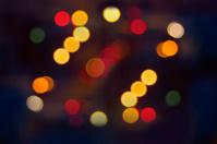 Night city abstract blur