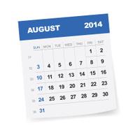 August 2014 Calendar - Illustration