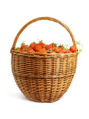 Strawberry basket - isolated