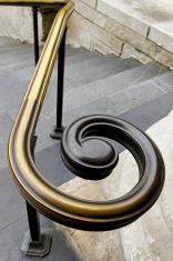 Hand rail spiral