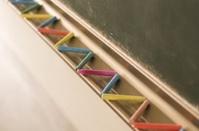 color chalk and black board