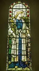 Saint Catherine Stained Glass Window
