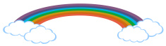 Drawing of a rainbow