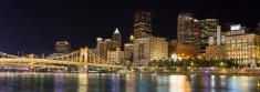 Pittsburgh night Skyline panoramic