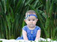 Girl dressed in blue