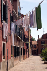 Little street in Murano