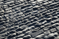 Pebbly pavement of the Spanish ancient road