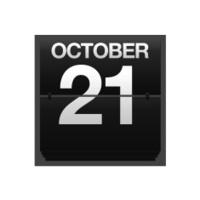 Counter calendar October 21.