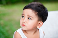 Kid thinking