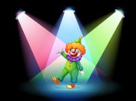 clown under the spotlights
