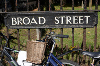 Broad Street sign. Oxford. England
