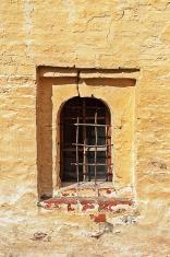 Window in ancient russian monastery