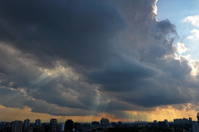 Sunbeams Over City