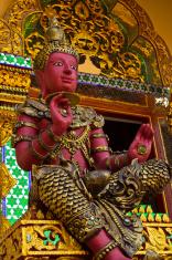 Thai temple statues of Vishnu