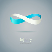 Abstract Infinity symbol on gray background
