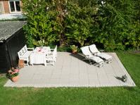 Making garden terrasse