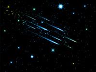 Night sky with shooting stars