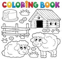 livro de colorir personagem de desenho animado relógio despertador