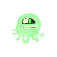 retro cartoon weird jellyfish alien