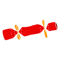 Christmas Crackers Cartoon.Retro Cartoon Christmas Cracker Stock Vector Freeimages Com