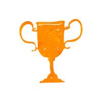 retro cartoon trophy