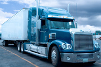 Semi Truck at a Truckstop