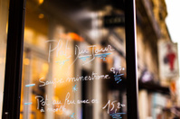 French Restaurant Specials on Glass Menu