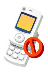 Vector icon mobile ban