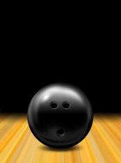 bowling ball above