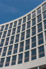 Modern geometric glass architecture