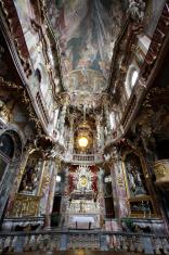 Interior of the Asam Church in Munich