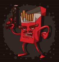 Cigarettes kill, red