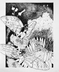 Fairies with Babies on a Dandelion Original Artwork