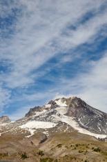 Peak of Mt. Hood, a dormant volcano, in September
