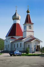 Kandalaksha. North Russia. Church of St John the Baptist