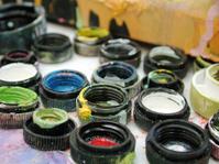splattered paint caps