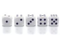 five dice